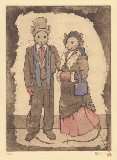 Victorian Mouse Couple